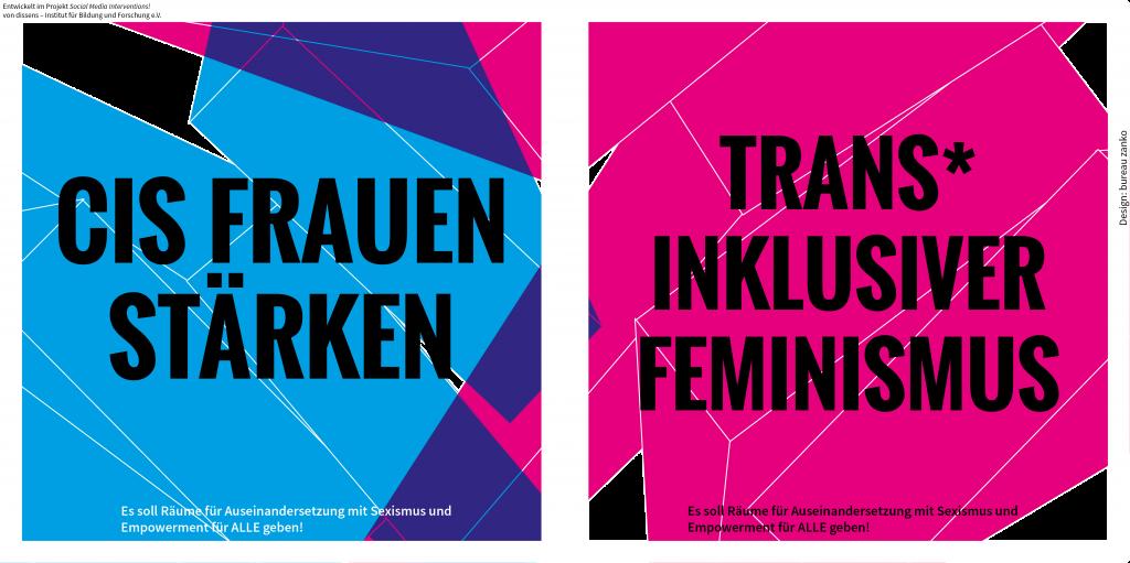 Feministisches Spannungsfeld: Sexismus gegen cis Frauen, Trans* inklusiver Feminismus